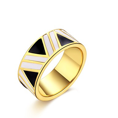 Damen Ring Kubikzirkonia Gold Zirkon Kupfer versilbert vergoldet Aleación Kreisförmig Personalisiert Geometrisch Einzigartiges Design