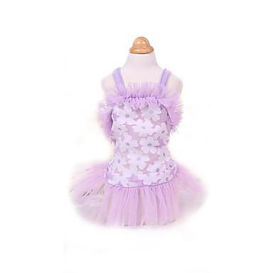 Rochii Îmbrăcăminte Câini Draguț Modă Prințesă Mov Roz Costume Pentru animale de companie