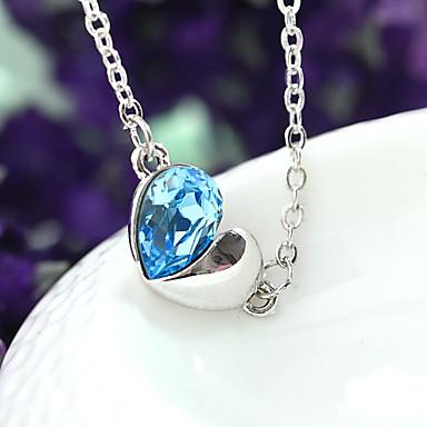 Pentru femei Coliere cu Pandativ Bijuterii Heart Shape Bijuterii Cristal Aliaj Design Unic Modă Euramerican Bijuterii Pentru Petrecere