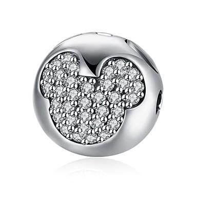 Dames Hangers Zirkonia Rond Geometrische vorm Sterling zilver Zirkonia Gepersonaliseerde Cirkelvormig ontwerp Uniek ontwerp Hangende