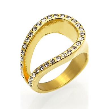 Herrn Damen Bandringe Statementringe Ring Kubikzirkonia Personalisiert Geometrisch Kreisförmiges Einzigartiges Design Retro Euramerican