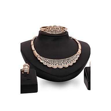 Dames Sieraden Set Bergkristal Gepersonaliseerde Luxe Vintage Opvallende sieraden Modieus Euramerican Feest Speciale gelegenheden