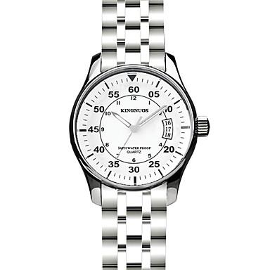 Heren Modieus horloge Polshorloge Dress horloge Kwarts Roestvrij staal Band Zilver