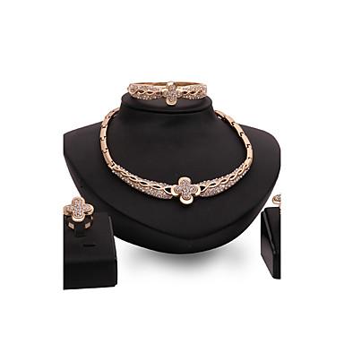 للمرأة مجموعة مجوهرات حجر الراين مخصص قديم موضة euramerican في بيان المجوهرات زفاف حزب مناسبة خاصة تهاني حجر الراين سبيكة أخرى وردة