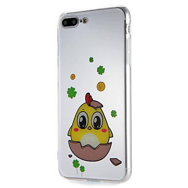 hoesje Voor Apple iPhone 7 Plus iPhone 7 Patroon Achterkant Cartoon Zacht TPU voor iPhone 7 Plus iPhone 7 iPhone 6s Plus iPhone 6s iPhone
