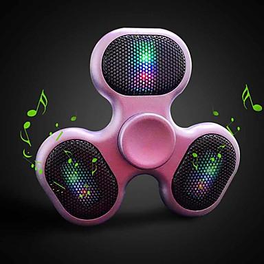 Spinner Speaker Voor buiten Plastic Mini LED Geheugenkaart Ondersteund LED Lamp LED-licht Goud Zwart Paars Karmozijn Blauw