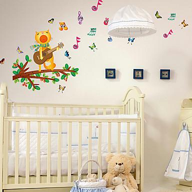حيوانات وقت الفراغ عطلة ملصقات الحائط لواصق لواصق حائط مزخرفة 3D, ورقة تصميم ديكور المنزل جدار مائي جدار نافذة