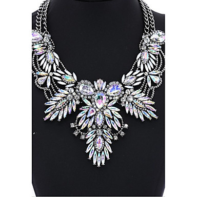 Damen Kristall Halsketten Kragen  -  Personalisiert Kreisförmiges Einzigartiges Design Regenbogen Remasuri  / schwarz Modische Halsketten