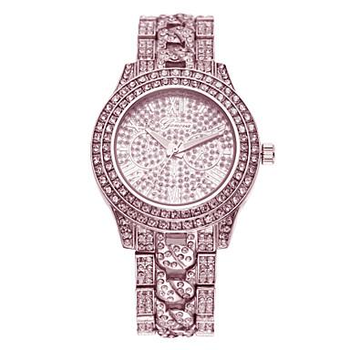 Mulheres Relógio Casual Relógio Pavé Quartzo imitação de diamante Banda Prata Dourada Ouro Rose