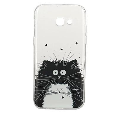 غطاء من أجل Samsung Galaxy A5(2017) A3(2017) نموذج غطاء خلفي قطة حيوان ناعم TPU إلى A3 (2017) A5 (2017) A5(2016) A3(2016)