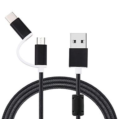 micro usb kabel til samsung s9 s10 plus 2 i 1 usb type c kabel opladning data usb c kabel til xiaomi redmi note 7 mobiltelefonkabler