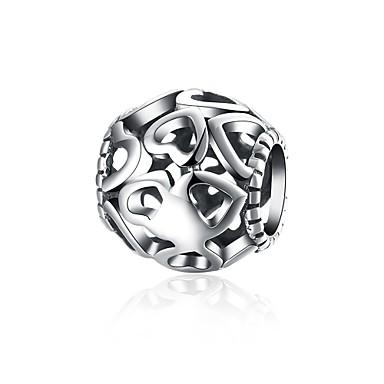 Damen Anhänger Kubikzirkonia Geometrische Form Herz Sterling Silber Personalisiert Kreisförmiges Einzigartiges Design Anhänger Stil Retro