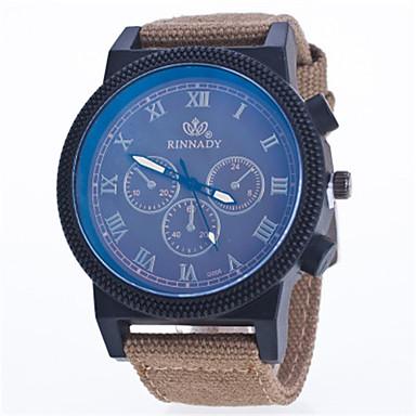 Heren Sporthorloge Modieus horloge Kwarts Nylon Band Blauw Groen Kaki