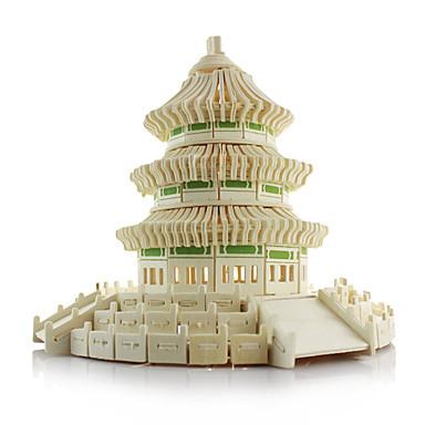 Puzzle 3D Jucarii Arhitectura Chineză Arhitectură Templul Paradisului Lemn Unisex Bucăți