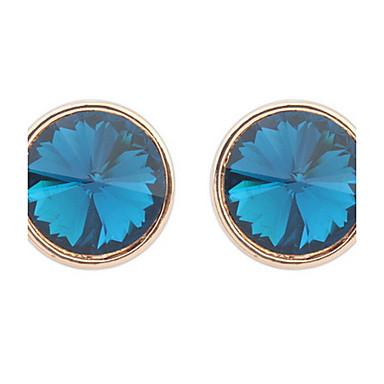 Dames Meisjes Oorknopjes Synthetische Diamant Basisontwerp Cirkelvormig ontwerp Uniek ontwerp Bergkristallen Meetkundig Cirkel