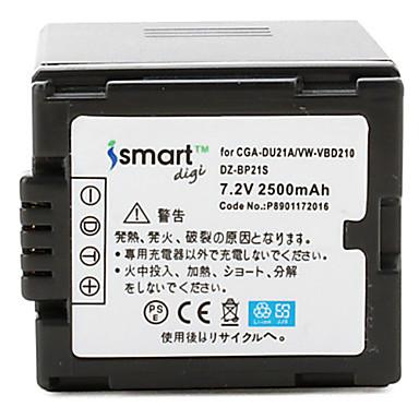 Estemartdigi du21 7.2v acumulator 2500mah pentru panasonic nv-gs500 gs28 gs188 gs180 gs300gk