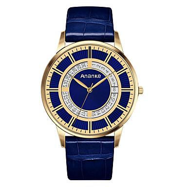 للرجال كوارتز ساعة المعصم عرض ساخن جلد طبيعي فرقة كاجوال ساعة فستان موضة أسود أزرق