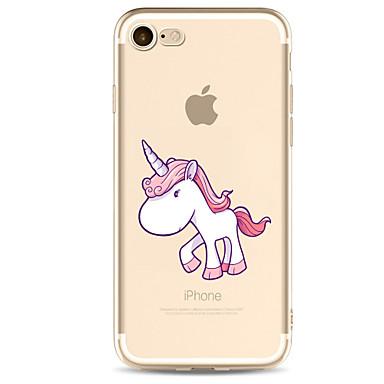 hoesje Voor Apple Transparant Patroon Achterkantje Eenhoorn Cartoon Zacht TPU voor iPhone 7 Plus iPhone 7 iPhone 6s Plus iPhone 6 Plus