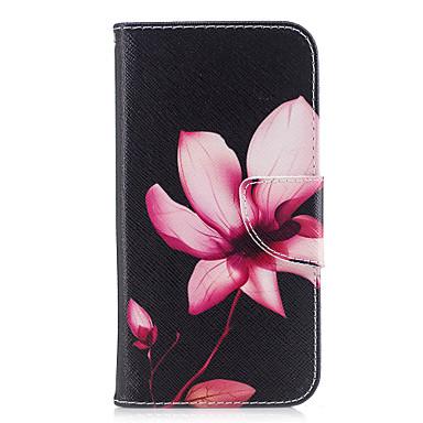 غطاء من أجل Samsung Galaxy A5(2017) A3(2017) محفظة حامل البطاقات مع حامل قلب نموذج مغناطيس كامل الجسم زهور قاسي جلد اصطناعي إلى A3 (2017)