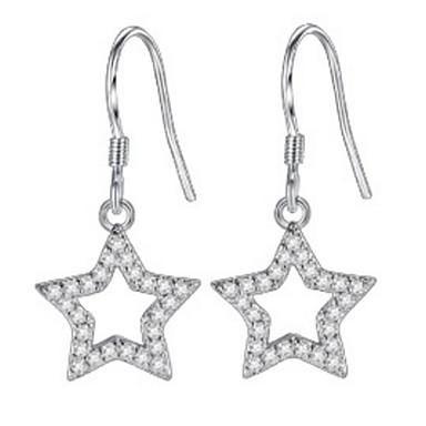 Dames Oorknopjes Druppel oorbellen Ring oorbellen Bergkristal Gepersonaliseerde Luxe Meetkundig Cirkelvormig ontwerp Uniek ontwerp