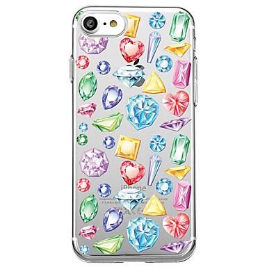 Hülle Für Apple Transparent Muster Rückseitenabdeckung Herz Geometrische Muster Weich TPU für iPhone 7 plus iPhone 7 iPhone 6s Plus