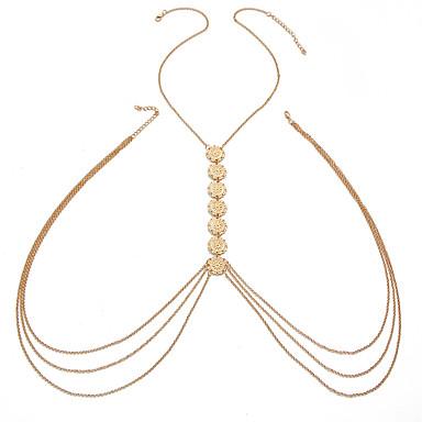 Χαμηλού Κόστους Κοσμήματα σώματος-Γυναικεία Κοσμήματα Σώματος Body Αλυσίδα / κοιλιά Αλυσίδα Χρυσό / Ασημί Ακανόνιστος κυρίες / Μοντέρνα Κράμα Κοστούμια Κοσμήματα Για Παραλία Καλοκαίρι