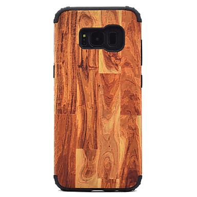 hoesje Voor Samsung Galaxy S8 Plus S8 Schokbestendig Patroon Achterkant Houtnerf Hard PC voor S8 Plus S8 S7 edge S7