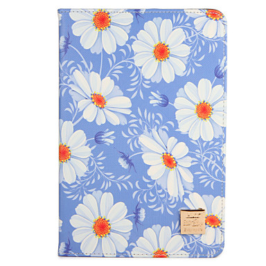Voor apple ipad mini1 2 3/4 case hoesje met tribune flip patroon hoesje hoesje bloem hard pu leer