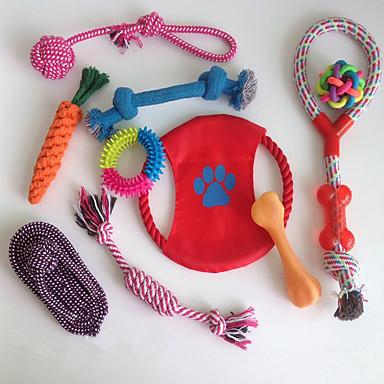 لعبة للقطة لعبة للكلب ألعاب الحيوانات الأليفة الألعاب جذاب محمول قابل للطي الحبل قابل للتعديل سهولة التثبيت مطاط البوليستر قطن نايلون
