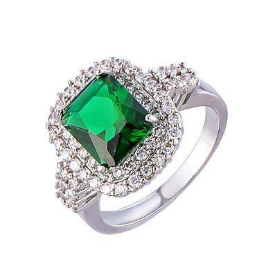 Bărbați Pentru femei Inel Verde Smarald Design Unic La modă Euramerican costum de bijuterii Zirconiu Aliaj Bijuterii Bijuterii Pentru
