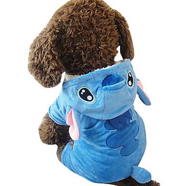 Câine Costume Îmbrăcăminte Câini Animal Albastru Material Din Fâș Costume Pentru animale de companie Cosplay