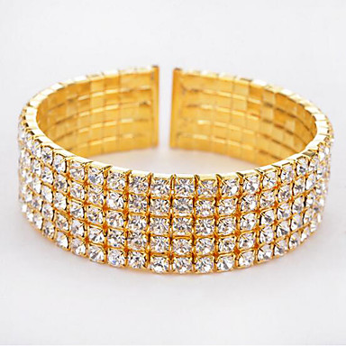 2207d1ad1 cheap Tennis Bracelets-Women's Tennis Bracelet Wide Bangle Hollow Ladies  Fashion. Women's ...