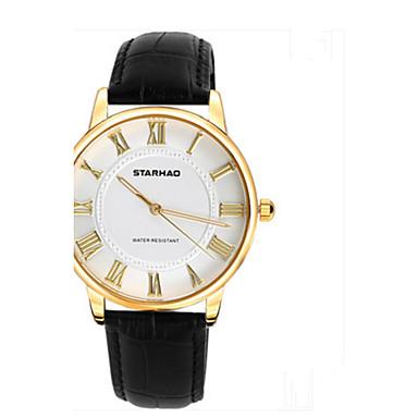 Dames Modieus horloge Kwarts Leer Band Informeel Zwart Wit