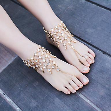 Blote voeten sandalen - Bloem Modieus Goud / Zilver Voor Dagelijks gebruik / Causaal / Outdoorkleding / Dames / Strass