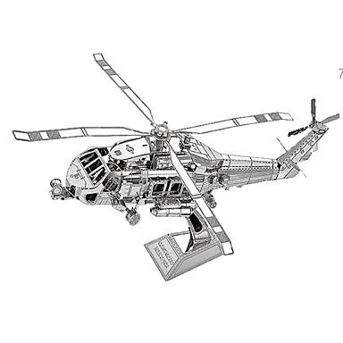 3D - Puzzle Metallpuzzle Modellbausätze Flugzeug 3D Einrichtungsartikel Chrom Metal Unisex Geschenk