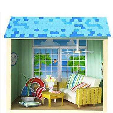 3D-puzzels Papierkunst Vierkant Beroemd gebouw Huis Architectuur 3D DHZ Hard Kaart Paper Unisex Geschenk