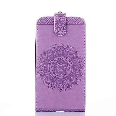 Für Samsung Galaxy Core Prime Ace 4 Case Cover Kartenhalter mit Standfuß geprägt Ganzkörper-Gehäuse Normallack Blume hartes PU-Leder