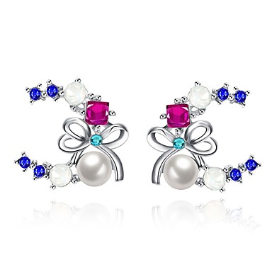 Damen Ohrring Schmuck Imitierte Perlen Basis Einzigartiges Design Anhänger Stil Herz Natur Geometrisch Freundschaft Vintage Böhmen-Art