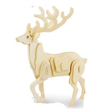قطع تركيب3D تركيب تركيب معدني النماذج الخشبية مجموعات البناء اصنع بنفسك خشب الخشب الطبيعي كلاسيكي للأطفال للبالغين للجنسين هدية