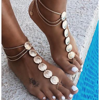 Pentru femei Bijuterii de corp Lănțișor Picior Aliaj Auriu Argintiu Rotund Vintage Costum de bijuterii Pentru Casual Vară
