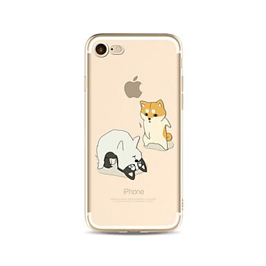 hoesje Voor Apple iPhone X iPhone 8 Plus Transparant Patroon Achterkantje Hond Zacht TPU voor iPhone X iPhone 7s Plus iPhone 8 iPhone 7