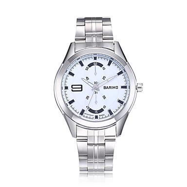 Heren Dress horloge Modieus horloge Polshorloge Chinees Kwarts Waterbestendig Stootvast Grote wijzerplaat Roestvrij staal Band Luxe