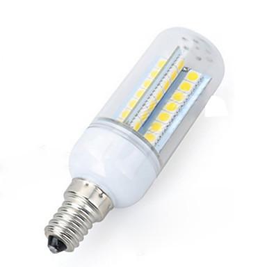 6W E14 LED-maïslampen 56 LEDs SMD 5050 Warm wit Koel wit 550-650lm 3000-6500K AC 220-240V