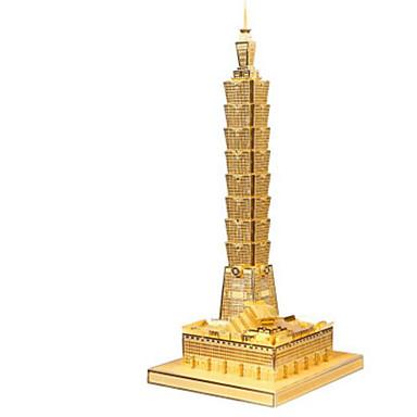 3D-puzzels Legpuzzel Metalen puzzels Modelbouwsets Speeltjes Beroemd gebouw Architectuur 3D DHZ Aluminium Metaal Niet gespecificeerd Stuks