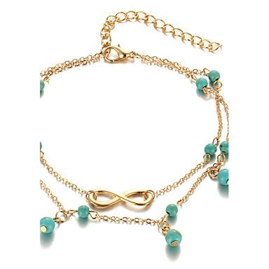 Ножной браслет - бесконечность Богемные, Мода, Богемный Золотой / Серебряный Назначение Повседневные Жен.