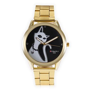 Heren Modieus horloge Unieke creatieve horloge Chinees Kwarts Grote wijzerplaat Metaal Band Cartoon Cool Zwart Wit Rood