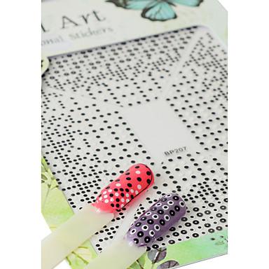 1pcs 3D Nagel Sticker / Aufkleber / Bastelmaterial Nagel Stamping Vorlage Alltag Modisch