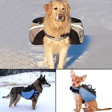 Câine câine Pack Animale de Companie  Genţi Transport Ajustabile/Retractabil Reflexiv Portabil Mată Gri Albastru