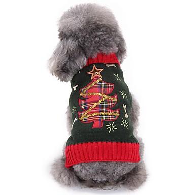 Câine Costume Îmbrăcăminte Câini Crăciun Cosplay Floral/Botanic Costume Pentru animale de companie