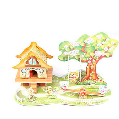 قطع تركيب3D مجموعات البناء بيت معمارية اصنع بنفسك ورق عالى الجودة كلاسيكي للأطفال فتيات صبيان للجنسين هدية